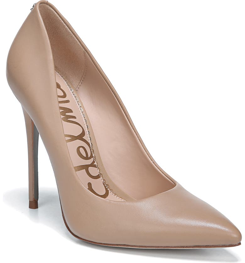 SAM EDELMAN Danna Pointy Toe Pump, Main, color, CLASSIC NUDE LEATHER