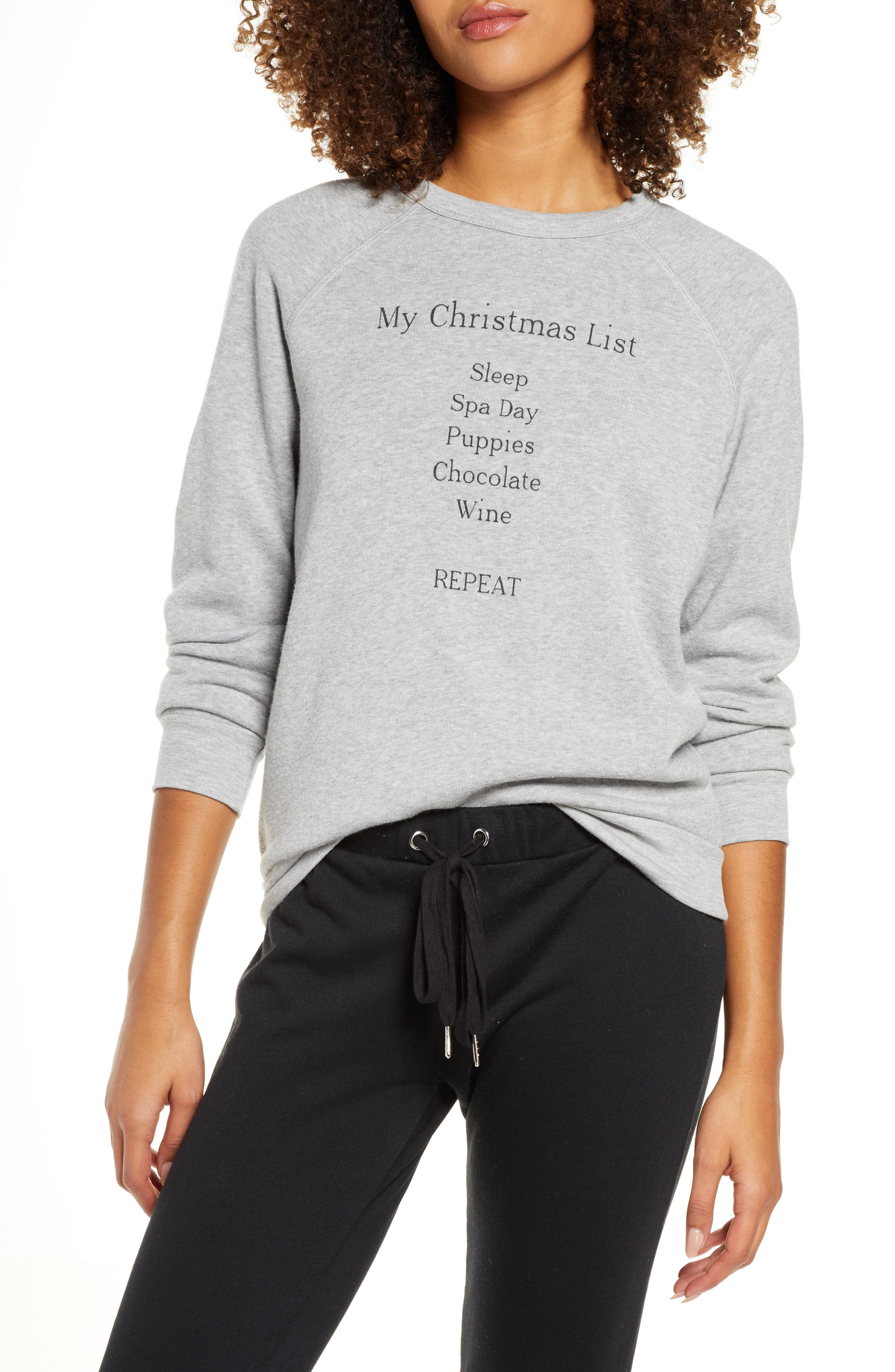Project Social T My Christmas List Lounge Top