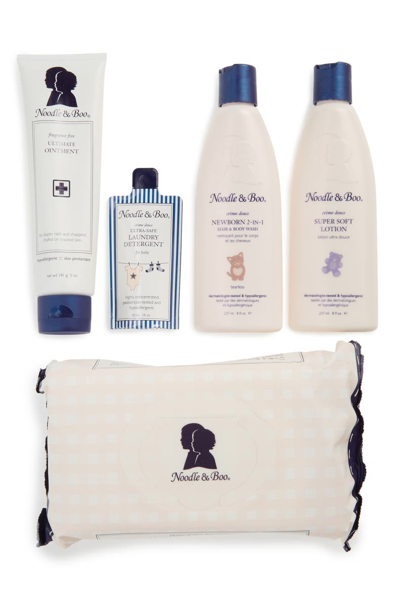 NOODLE & BOO Newborn Daily Essentials Gift Set, Main, color, 100