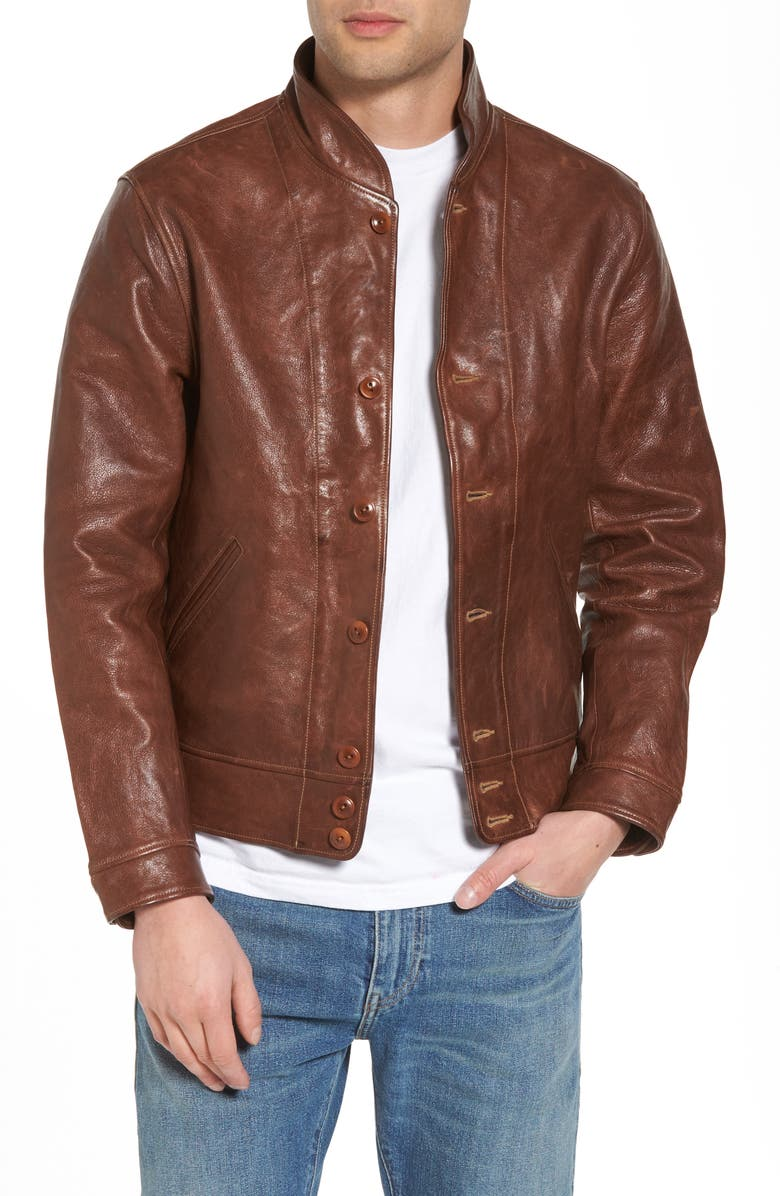 Levi S Vintage Clothing Menlo Cossack Leather Jacket Nordstrom