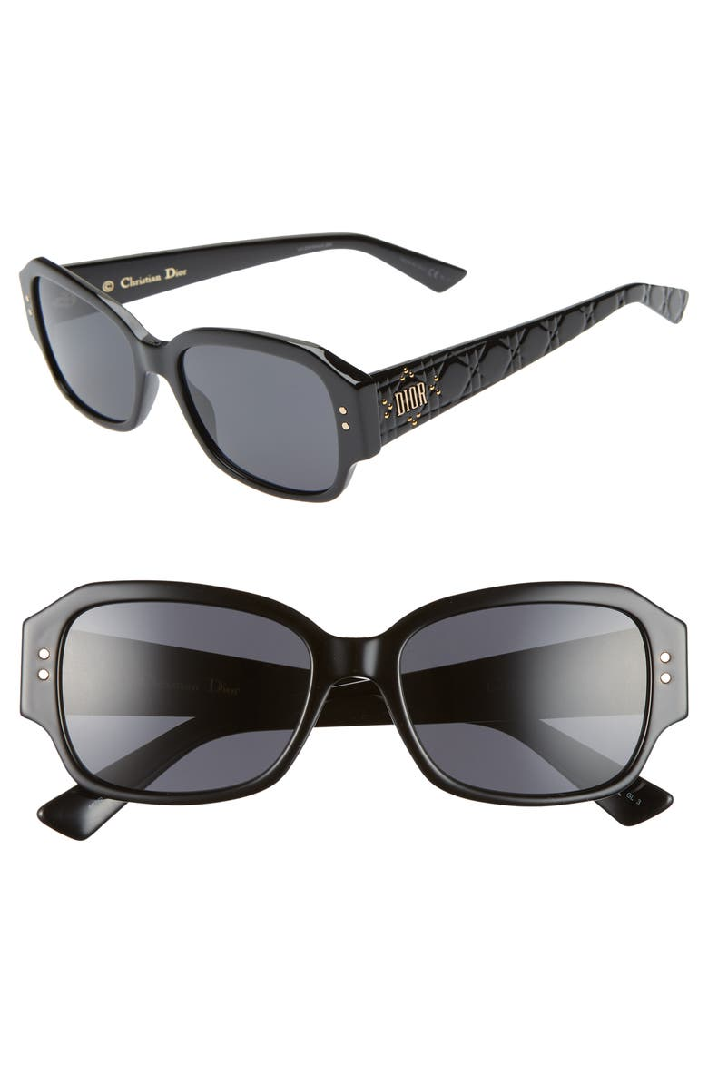 DIOR Ladydiorstuds5 54mm Sunglasses, Main, color, BLACK