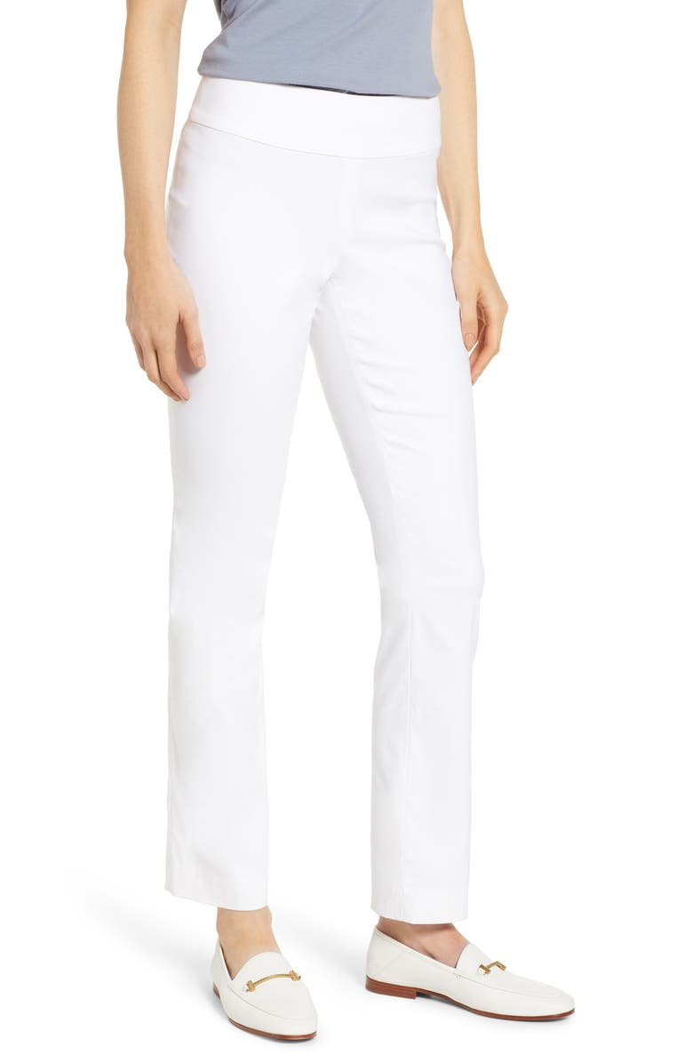 NIC+ZOE Polished Wonderstretch Pants, Main, color, PAPER WHITE