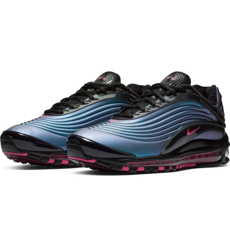 NIKE Air Max Deluxe Sneaker, Main, color, BLACK/ LASER FUCHSIA