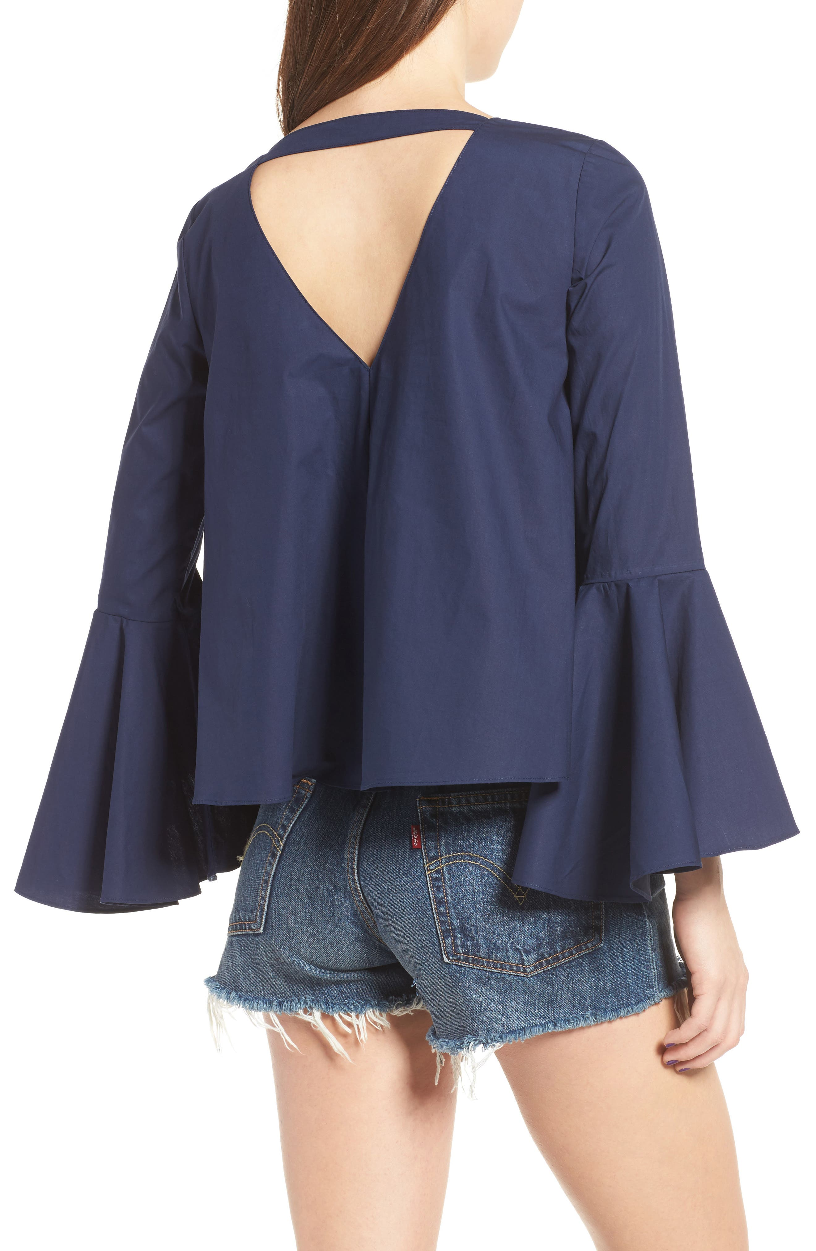 ,                             Bell Sleeve Top,                             Alternate thumbnail 7, color,                             410