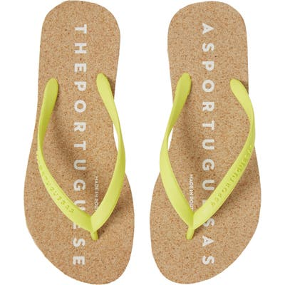 Asportuguesas By Fly London Base Flip Flop, 9/40 - Yellow
