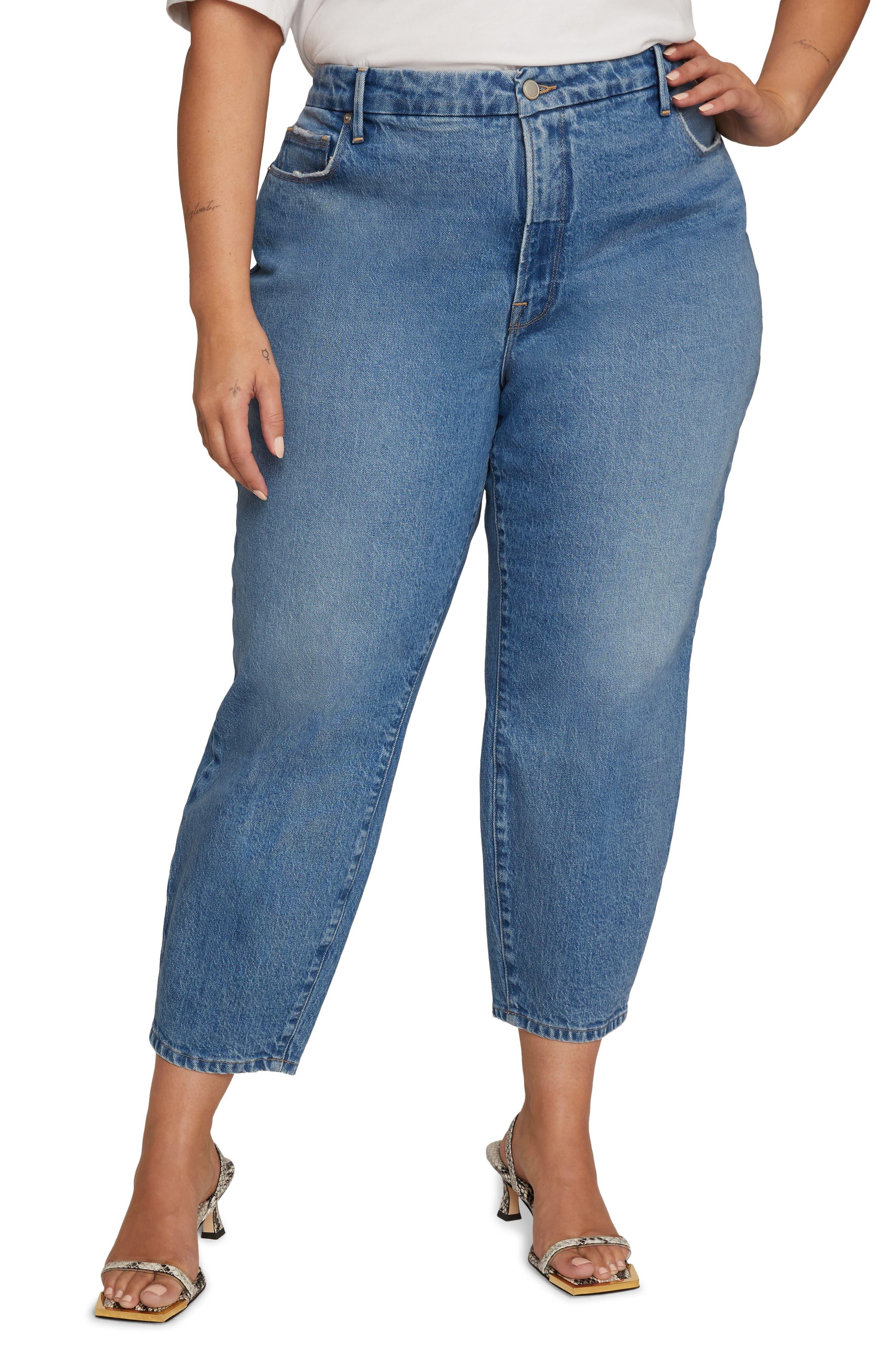 High Waist Ankle Mom Jeans