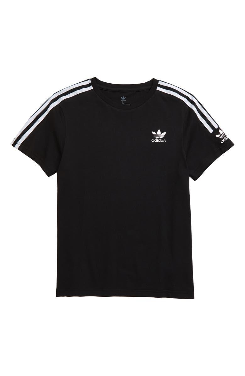 ADIDAS ORIGINALS New Icon T-Shirt, Main, color, BLACK/ WHITE