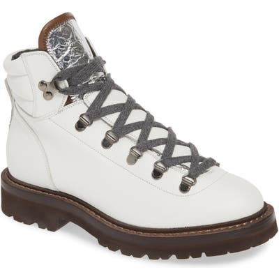 Brunello Cucinelli Hiking Boot, White