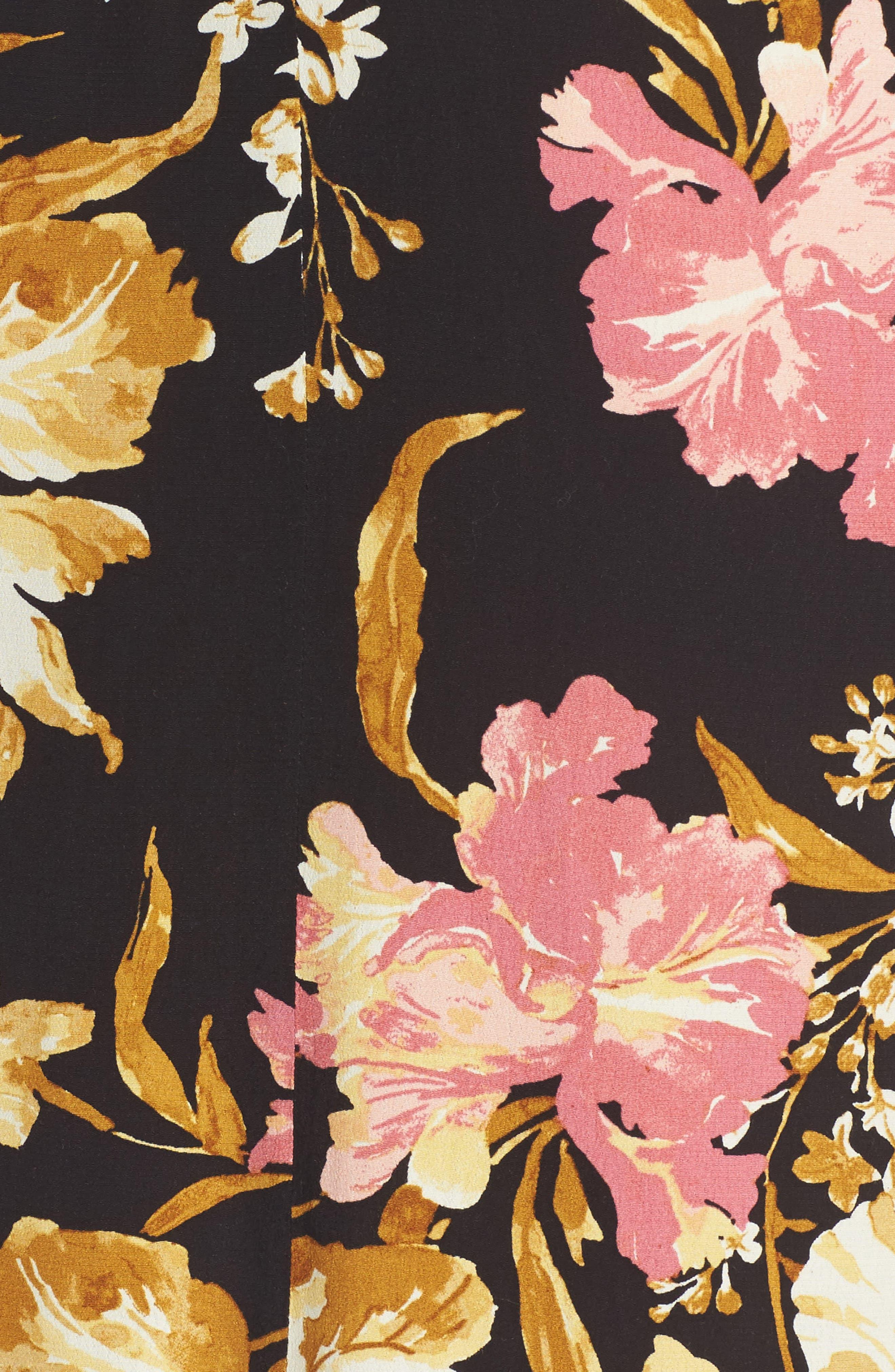,                             Cold Shoulder Midi Dress,                             Alternate thumbnail 5, color,                             001