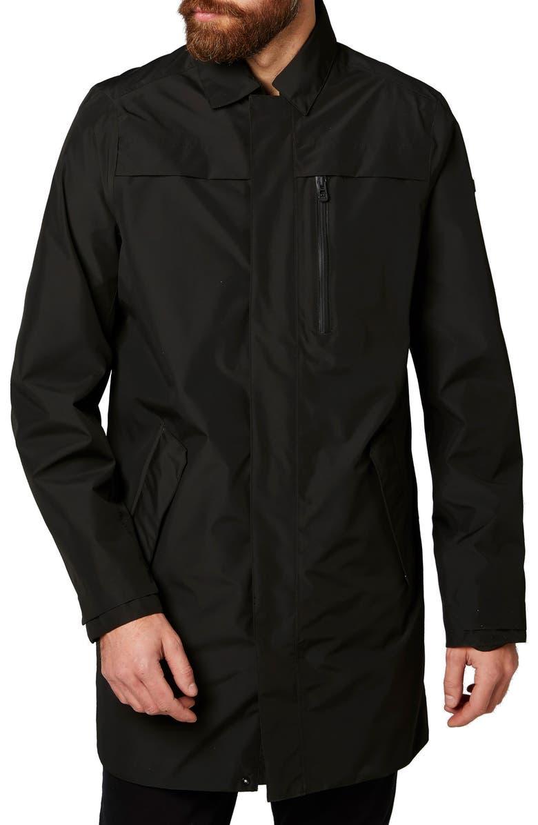 HELLY HANSEN Stockholm Waterproof Raincoat, Main, color, BLACK