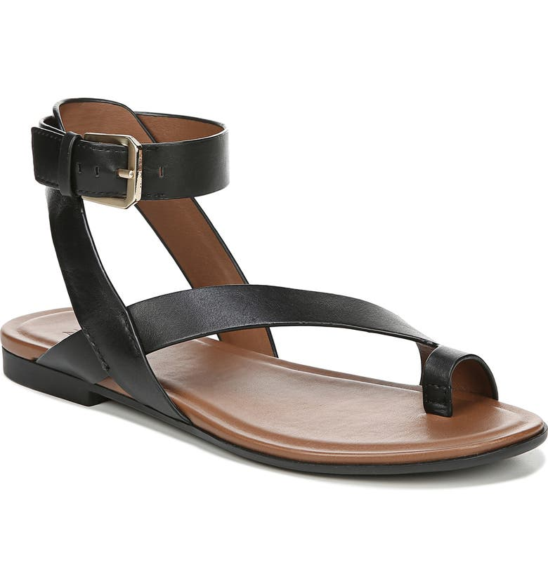 NATURALIZER Tally Ankle Strap Sandal, Main, color, BLACK LEATHER