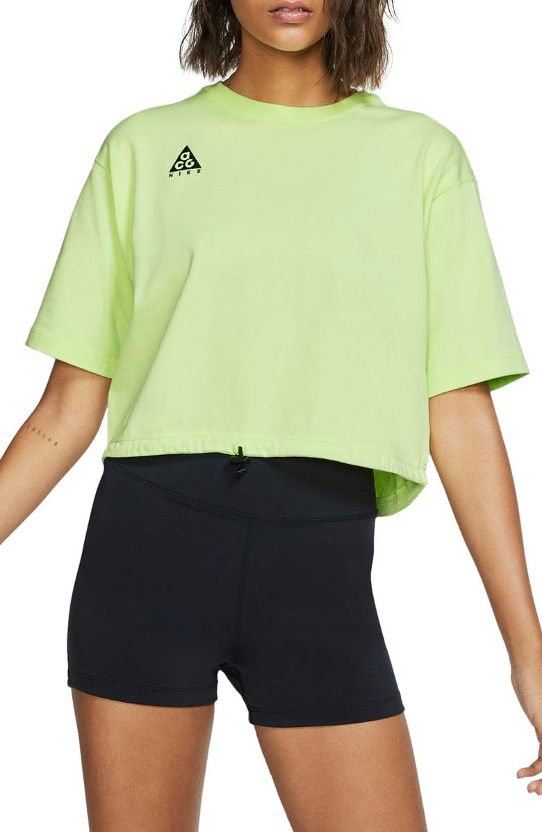 NIKE ACG Women's Short Sleeve Top, Main, color, BARELY VOLT
