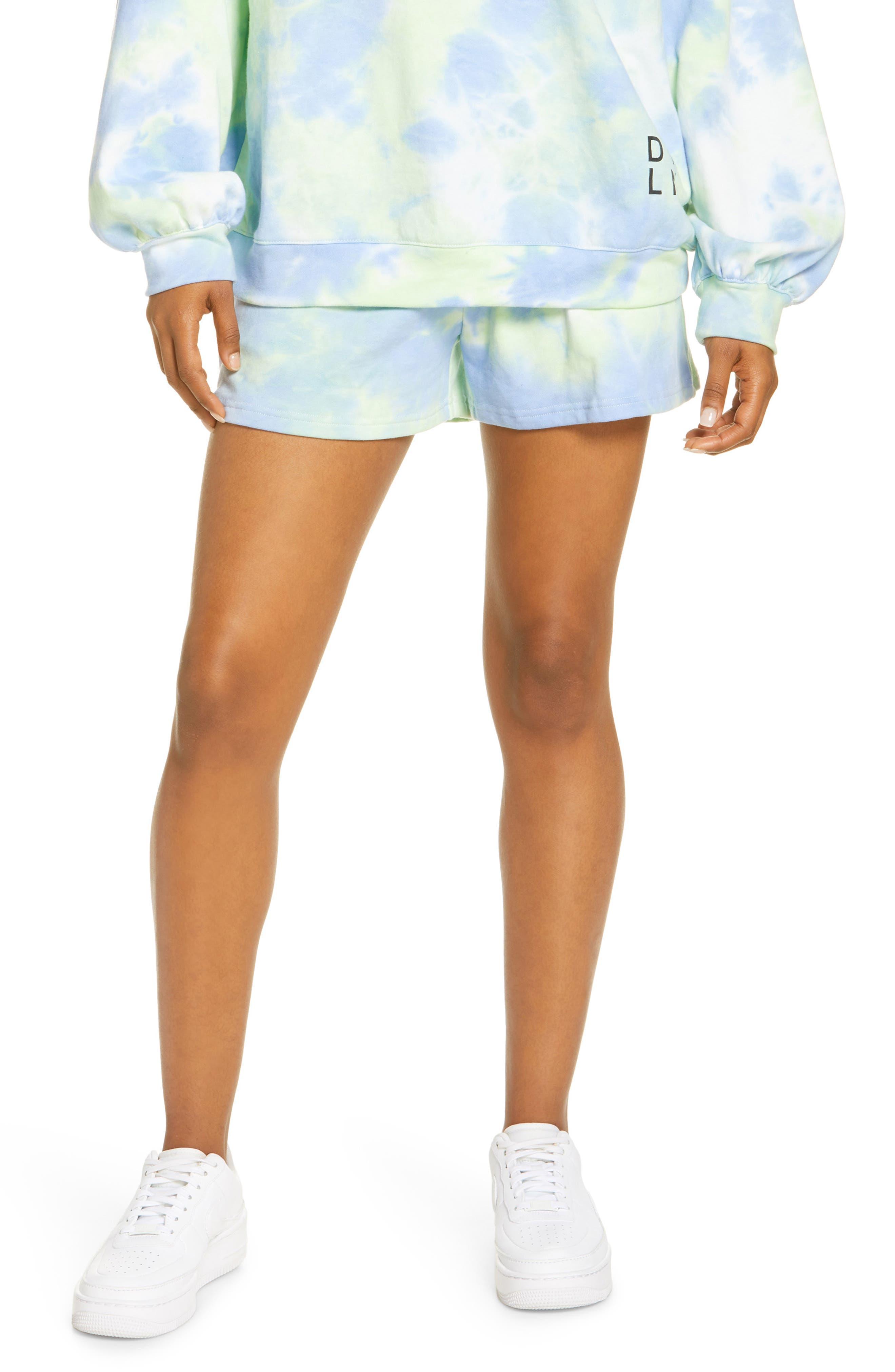 Women's By. dyln Lincoln Tie Dye Cotton Blend Shorts