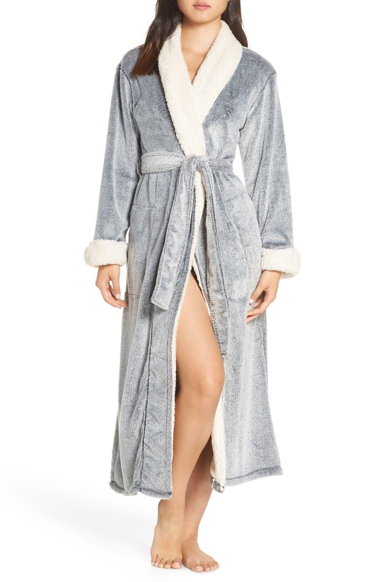 NATORI Plush Velour Robe, Main, color, 001