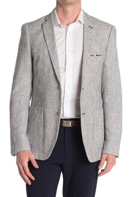 Image of Paisley & Gray Basketweave Heathered Slim FIt Blazer