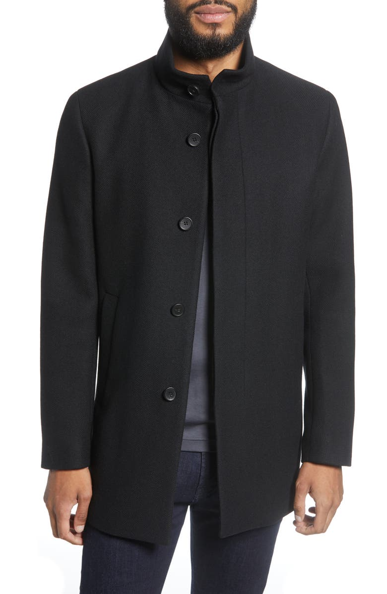 THEORY Renew Regular Fit Wool Blend Coat, Main, color, BLACK