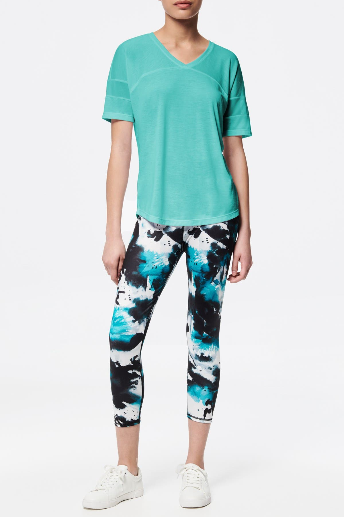 Image of MARC NEW YORK PERFORMANCE Varsity Mesh Stripe T-Shirt