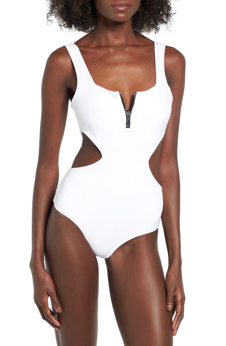 TAVIK 'Victoria' Cutout One-Piece Swimsuit, Main, color, 100