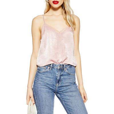 Topshop Lace Camisole Top, US (fits like 0-2) - Pink