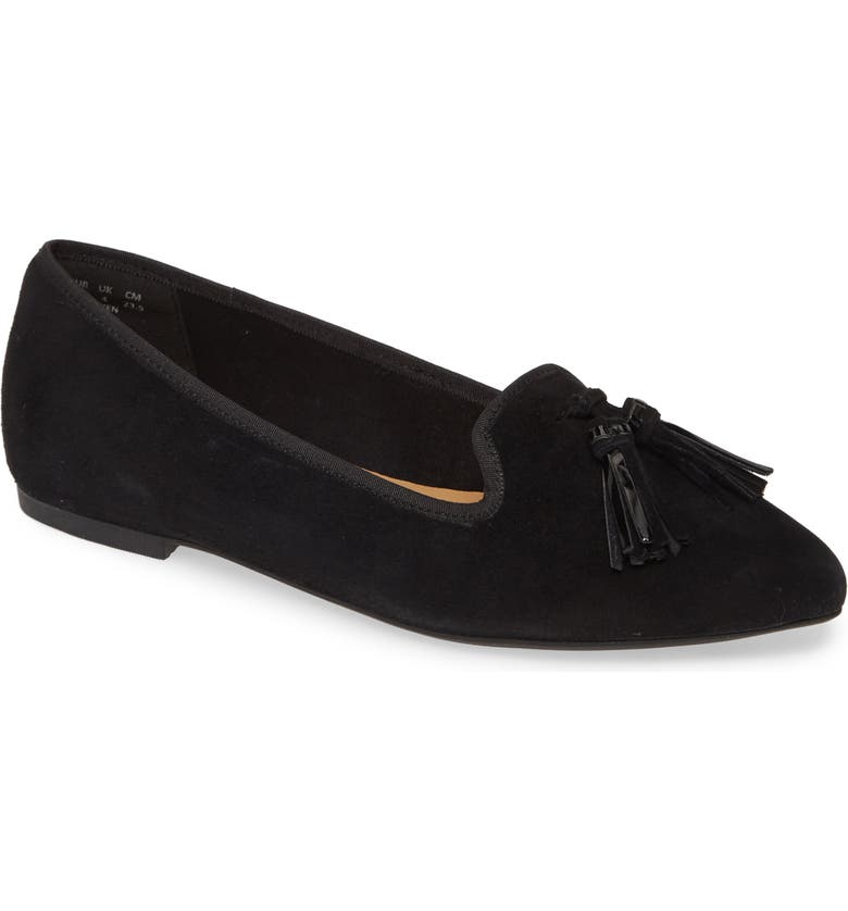 HUSH PUPPIES<SUP>®</SUP> Sadie Tassel Genuine Calf Hair Loafer, Main, color, 001