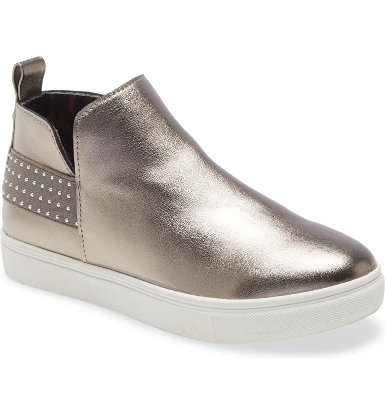 STEVE MADDEN Crusin' Metallic Platform Sneaker, Main, color, PEWTER
