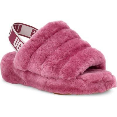 Ugg Fluff Yeah Genuine Shearling Slide, Burgundy