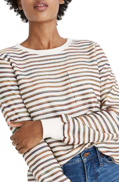 Madewell Tops RAINBOW STRIPE LONG SLEEVE TEE