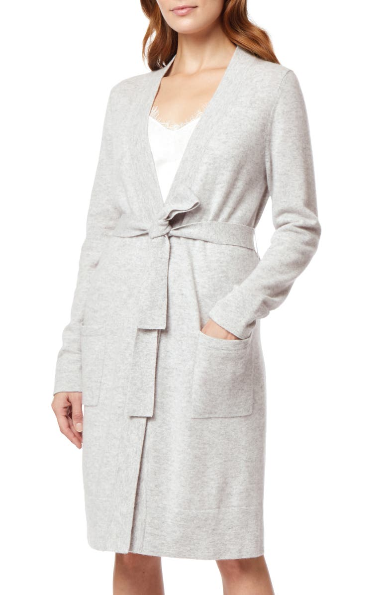THE WHITE COMPANY Short Cashmere Robe, Main, color, PALE GREY MARL