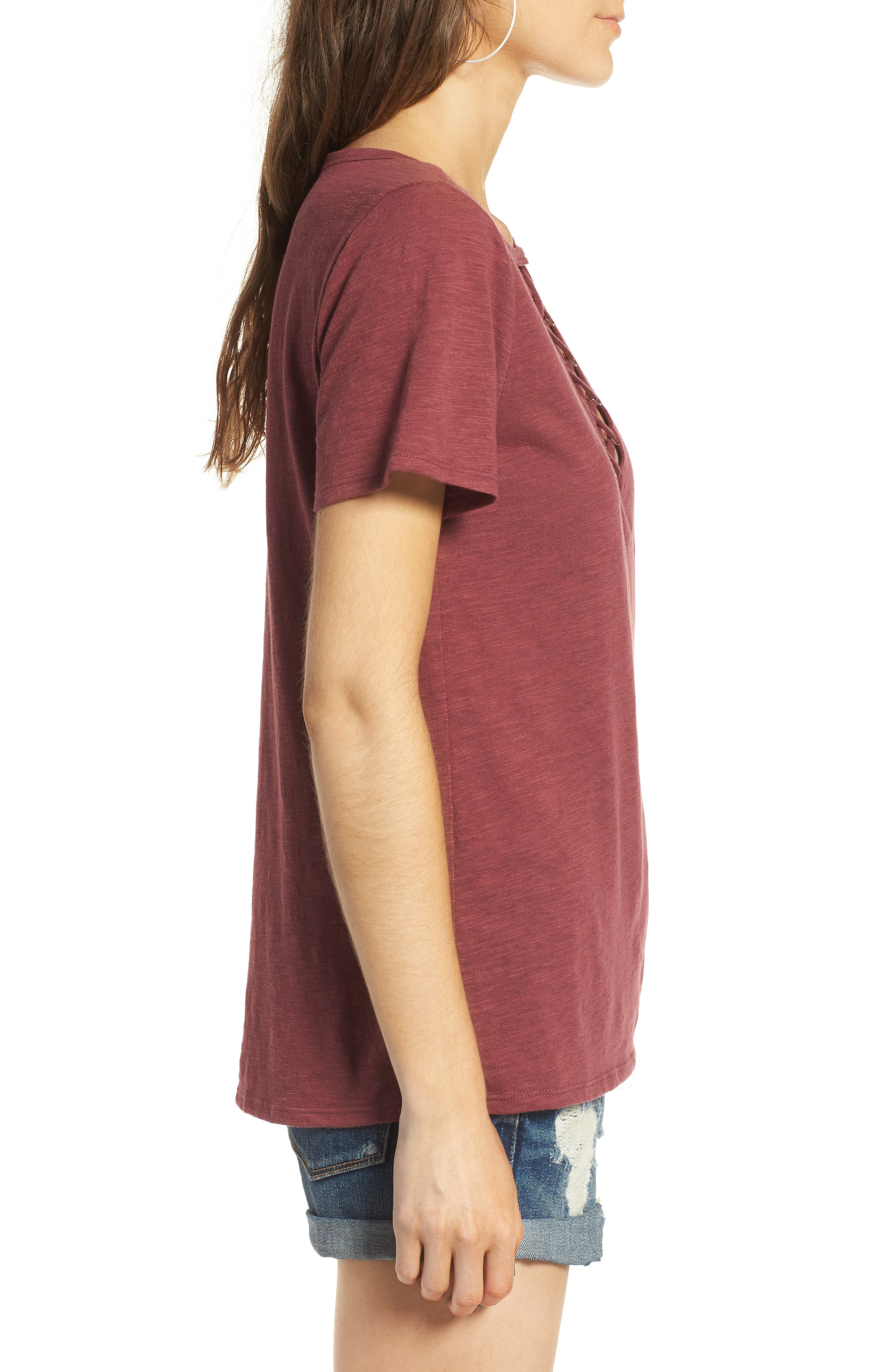 ,                             Grommet Lace-Up Tee,                             Alternate thumbnail 37, color,                             200