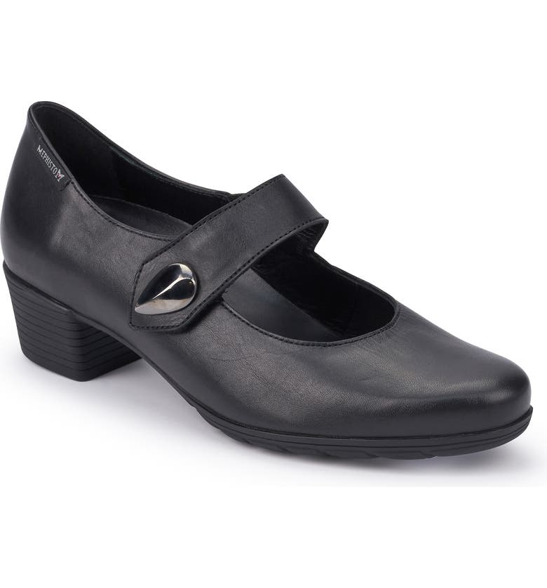 MEPHISTO Isora Mary Jane Pump, Main, color, BLACK LEATHER