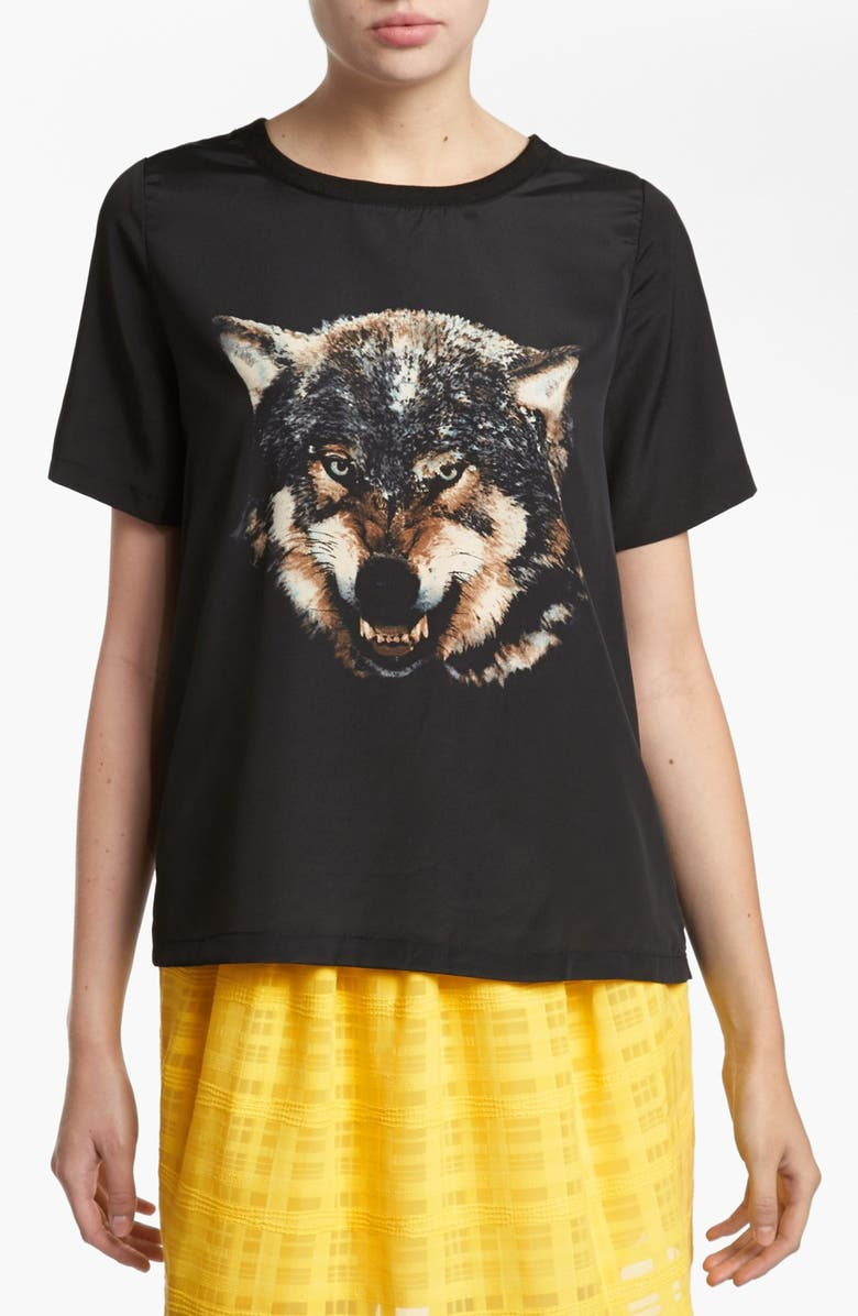 LIKE MYNDED Wolf Tee, Main, color, 001