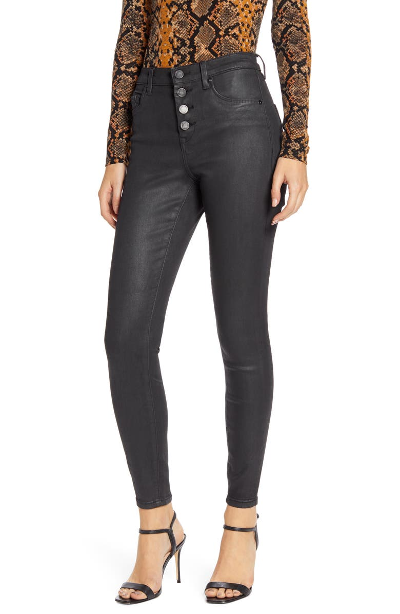 BLANKNYC The Great Jones Coated High Waist Ankle Skinny Jeans, Main, color, SATURN