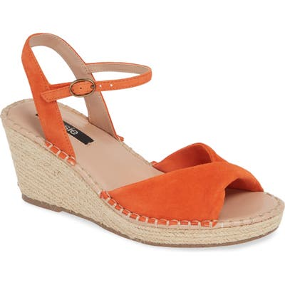 Kensie Vermont Espadrille Wedge Sandal, Orange