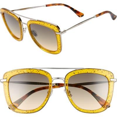Jimmy Choo Glossy 5m Square Sunglasses - Yellow