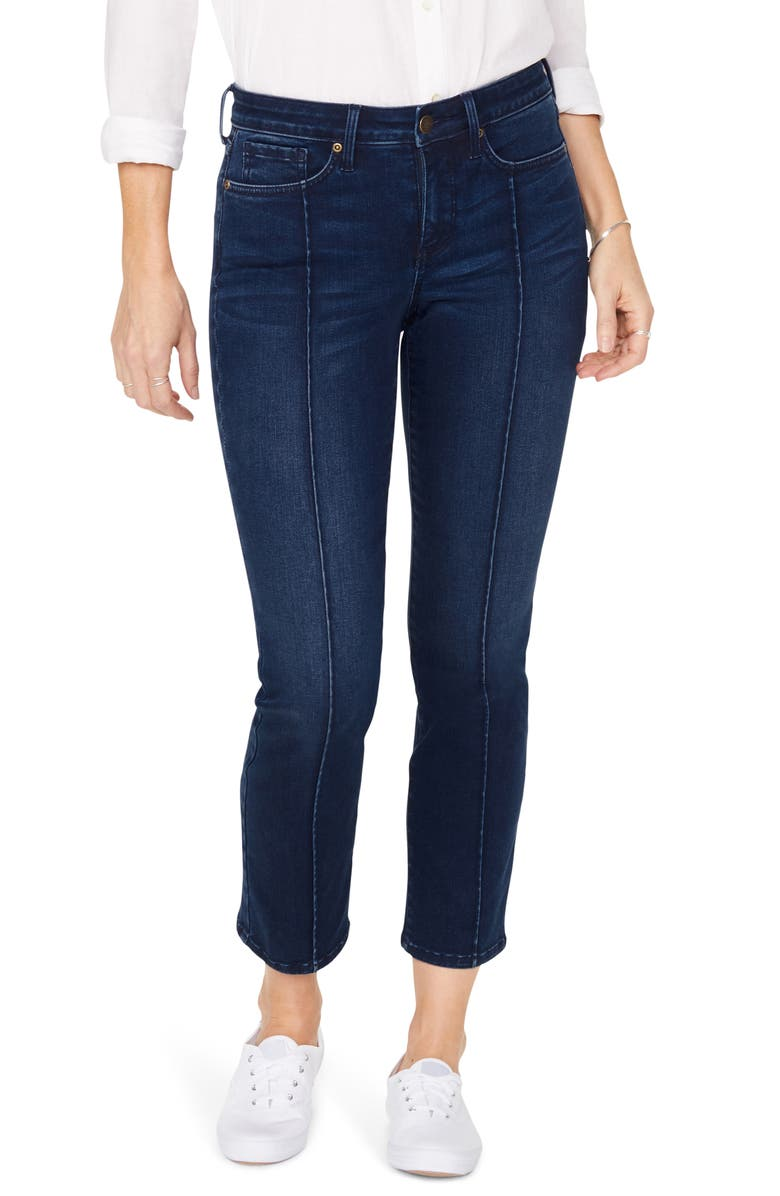 NYDJ Sheri Pintucked Stretch Ankle Jeans, Main, color, MACONDRAY