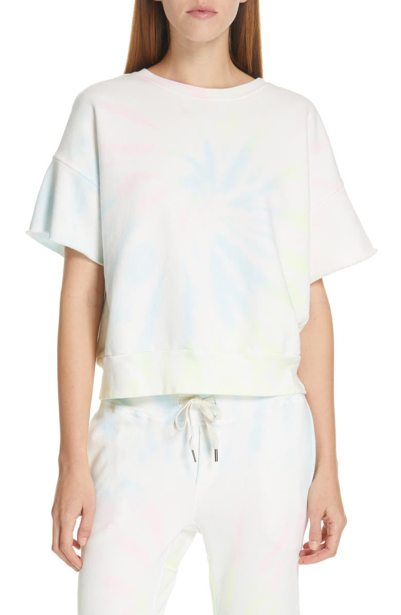 NSF CLOTHING Brooke Tie Dye Sweatshirt, Main, color, NEON PASTEL TIE DYE