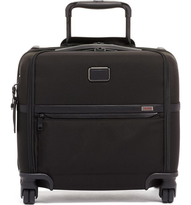 TUMI Alpha 3 Collection Compact 4-Wheel Laptop Briefcase, Main, color, BLACK