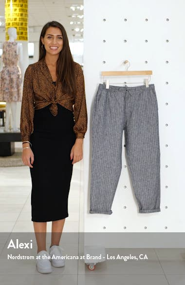 Skinny Fit Stripe Cropped Pants, sales video thumbnail