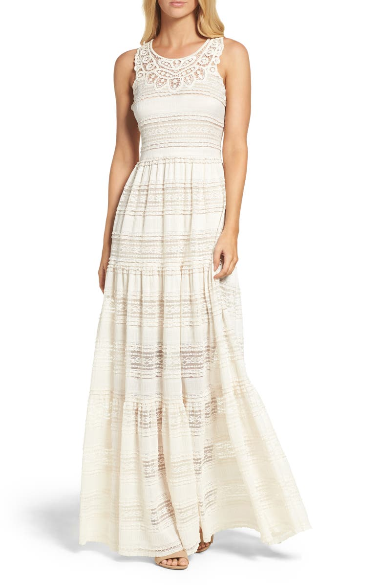 ELIZA J Maxi Dress, Main, color, IVORY