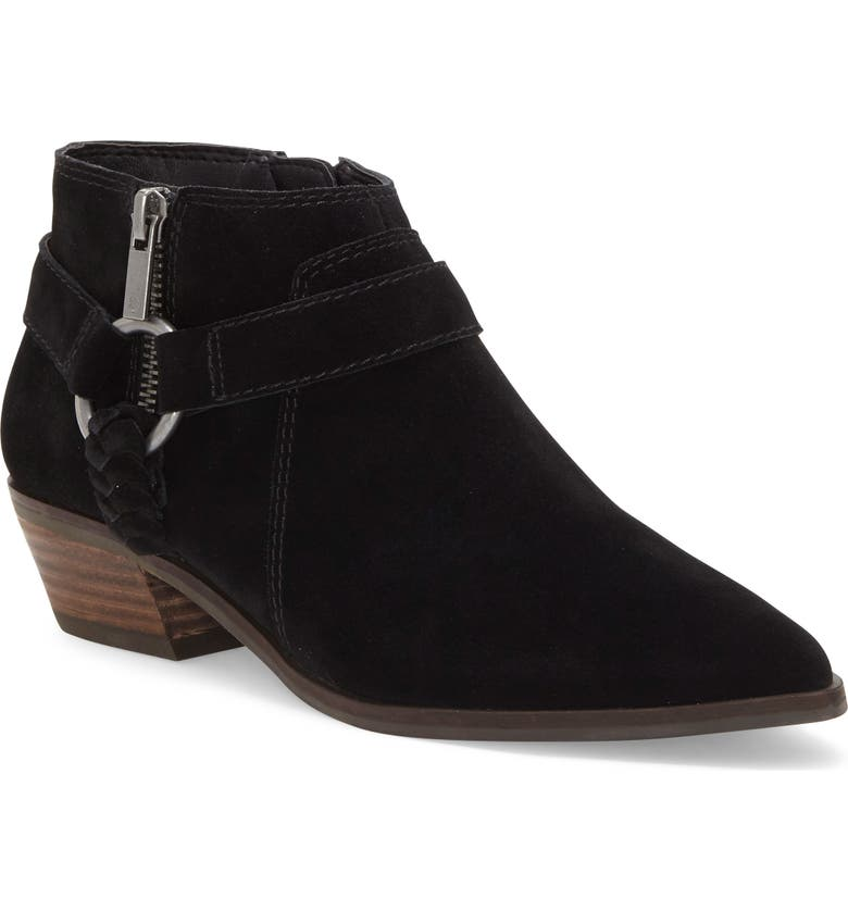LUCKY BRAND Enitha Bootie, Main, color, BLACK SUEDE