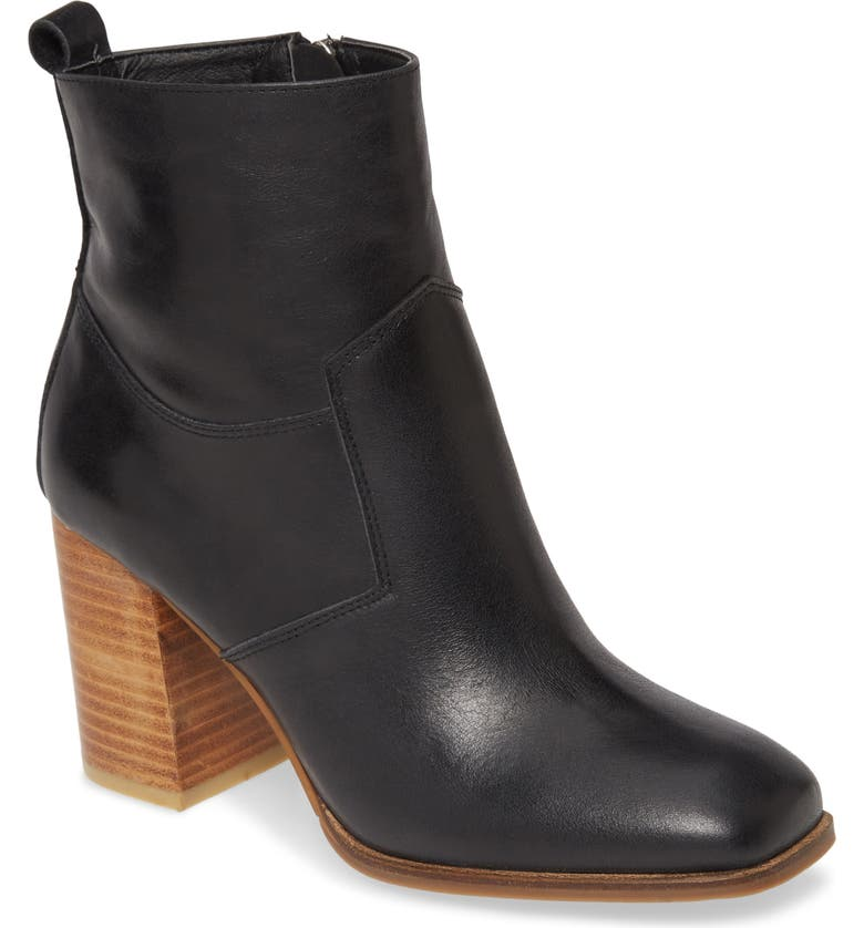 SBICCA Winchester Bootie, Main, color, BLACK LEATHER