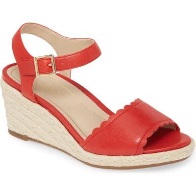 Vionic Stephany Wedge Sandal, Red