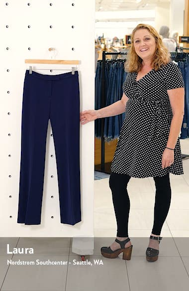 Flare Leg Stretch Twill Pants, sales video thumbnail