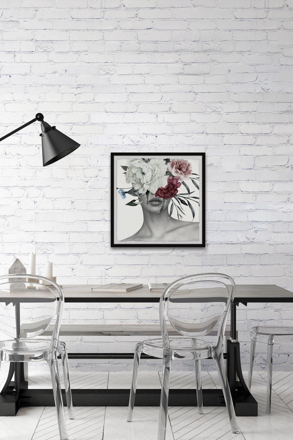 Image of Marmont Hill Inc. Trendy Crown Florals Wall Art