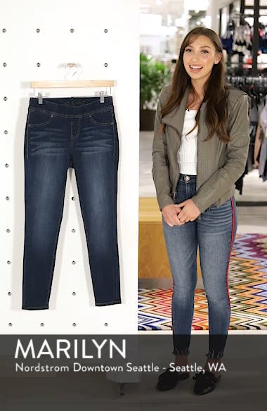 Marla Stretch Denim Leggings, sales video thumbnail