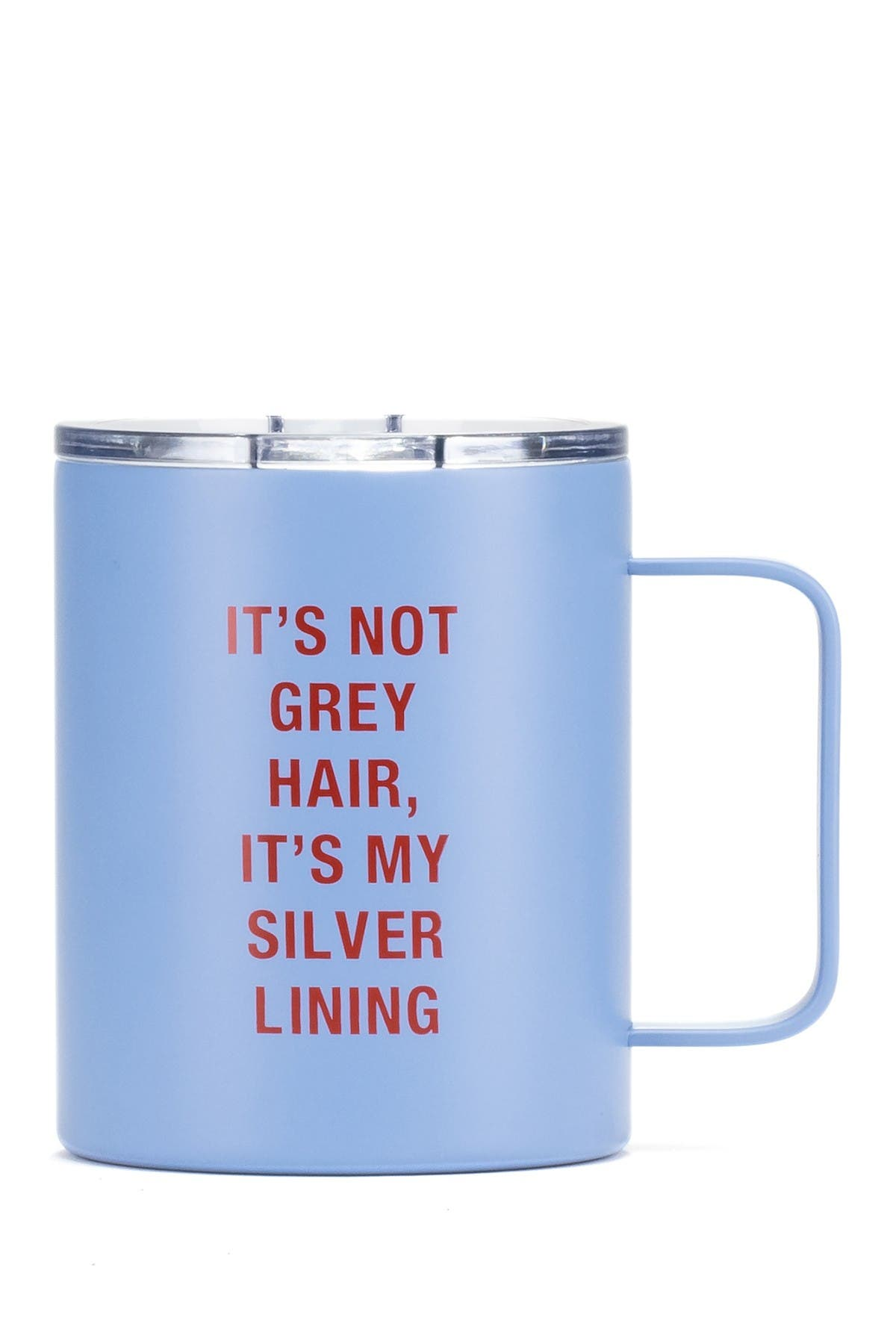 Image of ABOUT FACE DESIGNS Silver Lining Insulated Mug