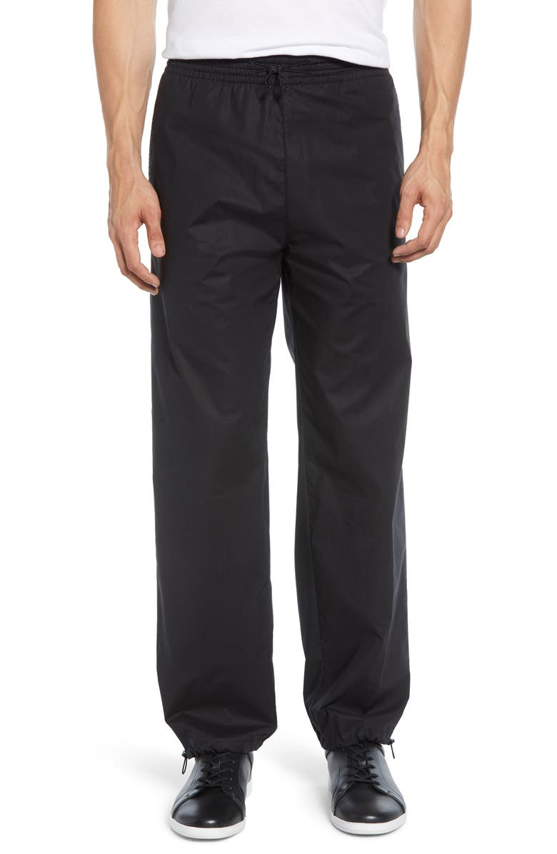HUGO Zeyro Slim Fit Poplin Athletic Pants, Main, color, BLACK