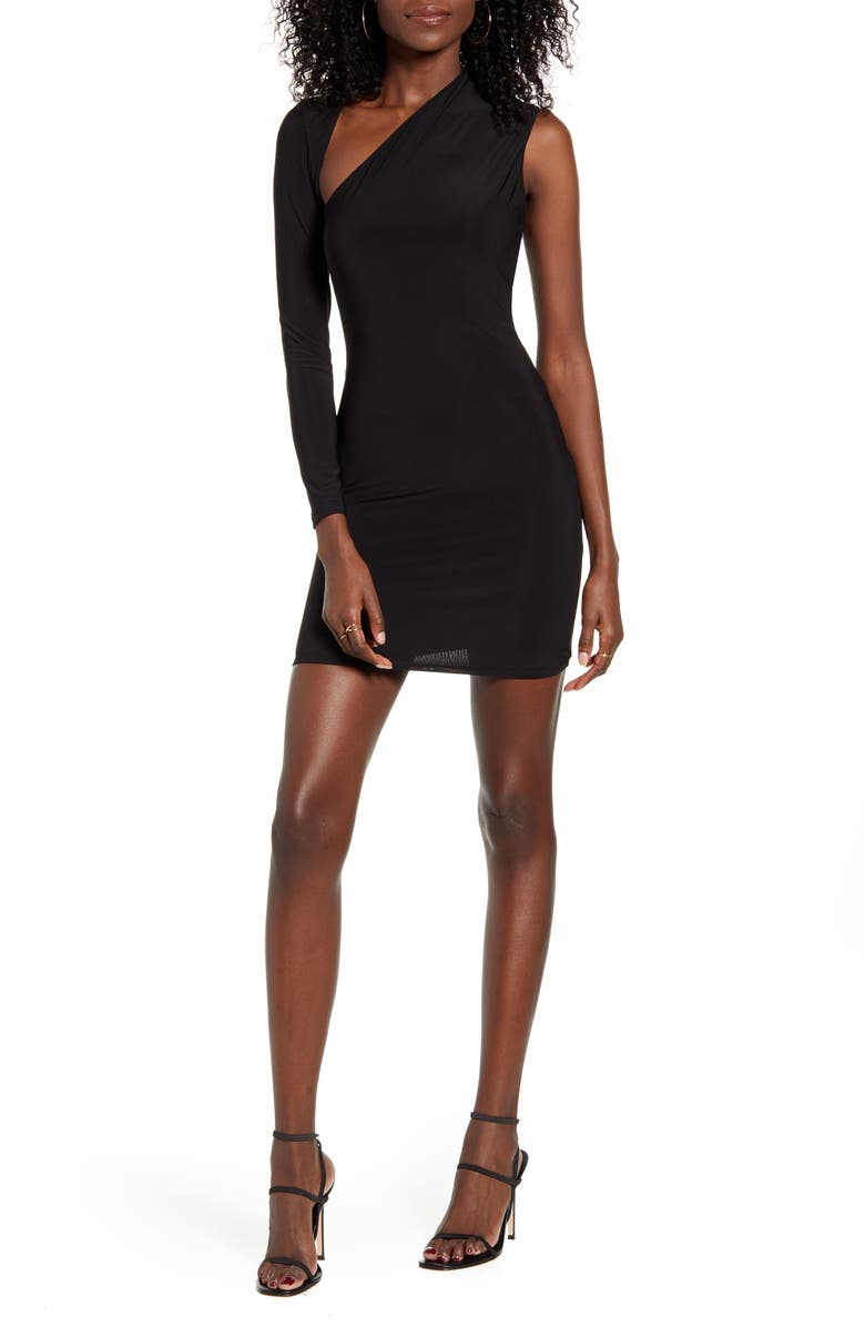 SNDYS Dany Body-Con Minidress, Main, color, BLACK