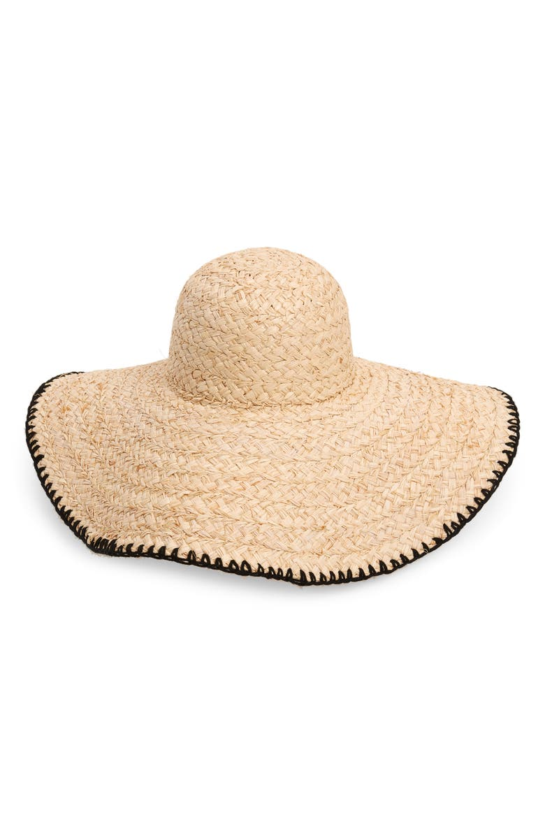 L SPACE Beth Wide Brim Straw Hat, Main, color, 250