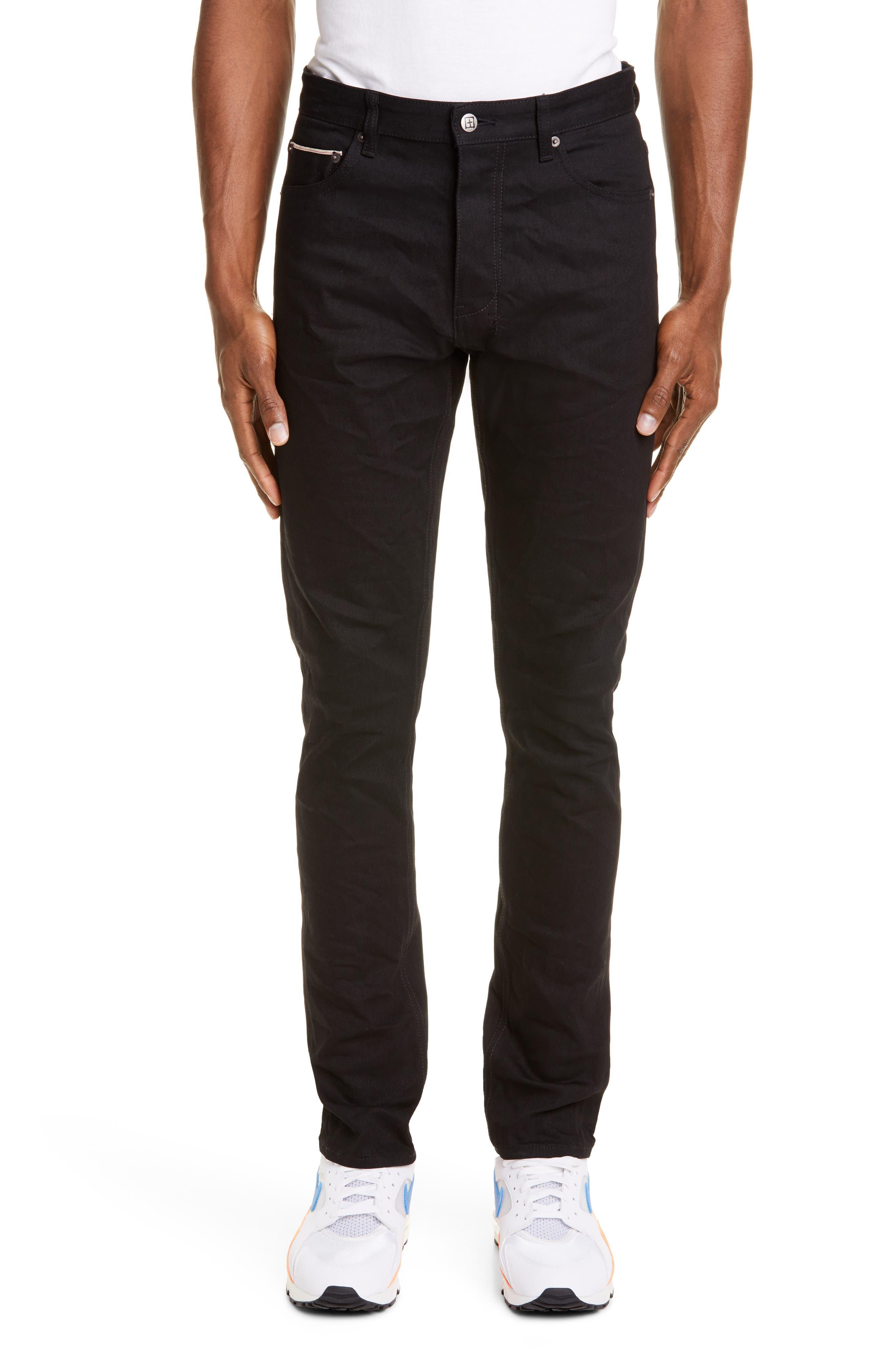 Chitch Black Skinny Fit Selvedge Jeans by Ksubi